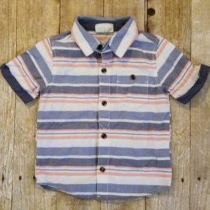 Crazy 8 Stripe Button Down Shirt